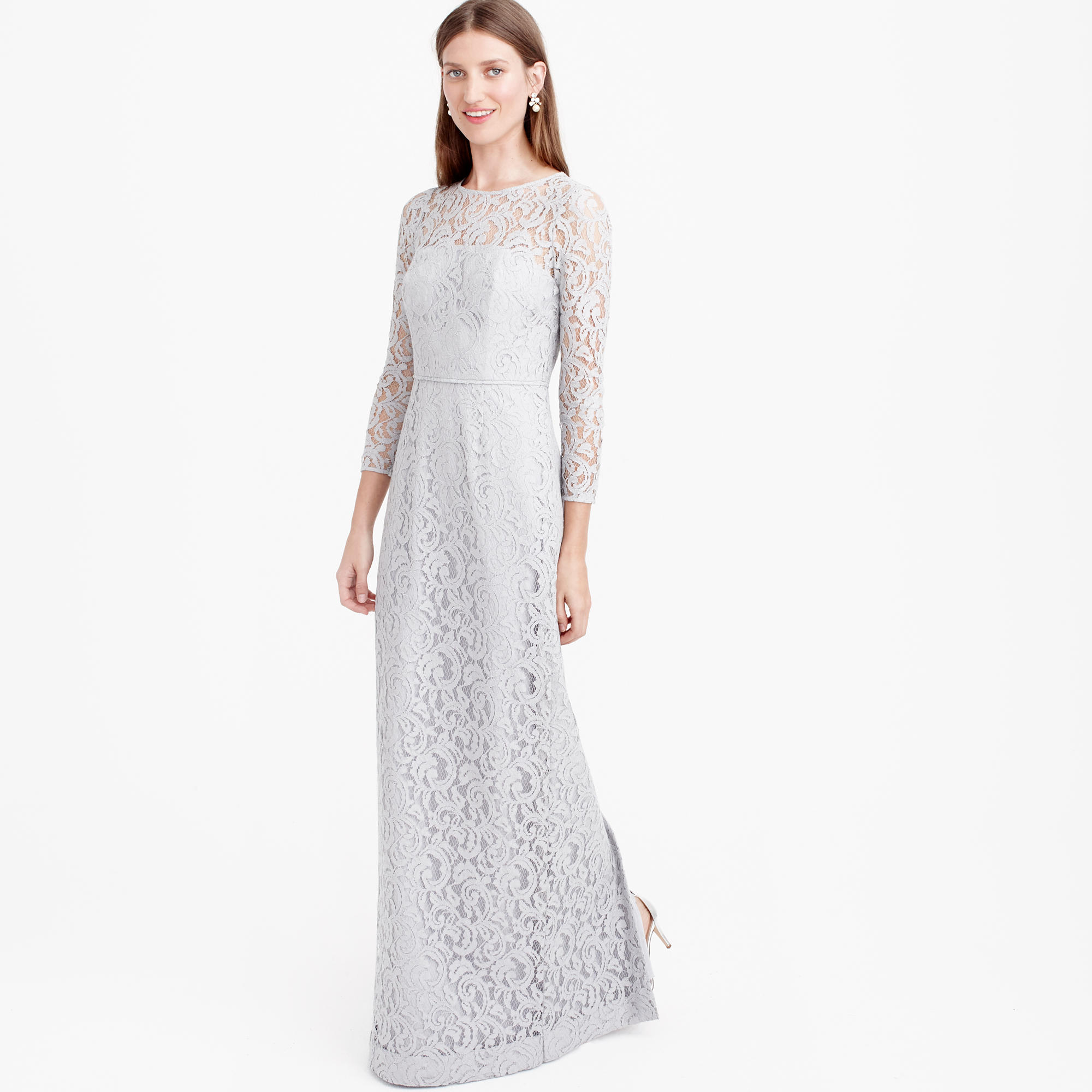 Long gray lace dress long gray lace dress re re ombrellifo Choice Image