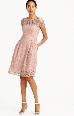 Alisa dress in Leavers lace