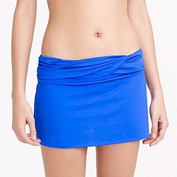 Jersey Lomellina® ruched bikini beach skirt
