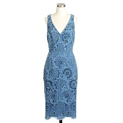 Collection beaded floral lace dress