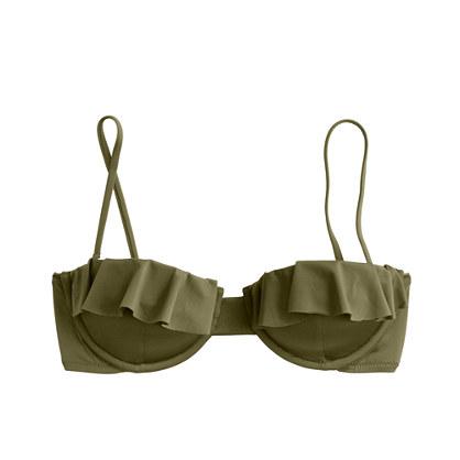Jersey Lomellina® ruffle underwire bikini top