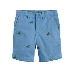Boys' Stanton short with embroidered octopi