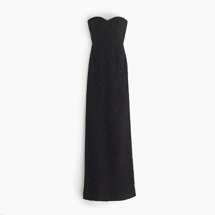 Natasha long dress in Leavers lace