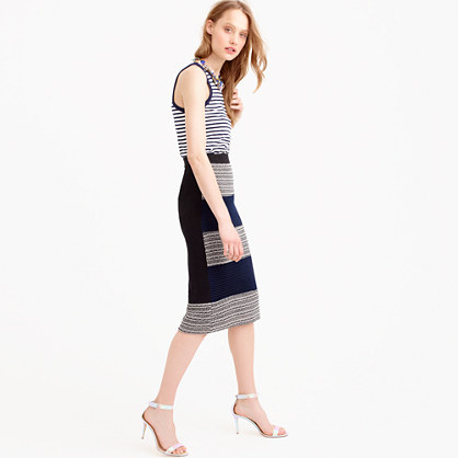 Collection Italian basketweave pencil skirt