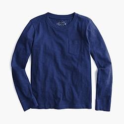 Boys' long-sleeve pocket T-shirt