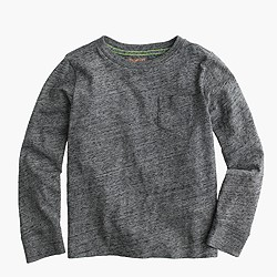 Boys' slub long-sleeve pocket T-shirt