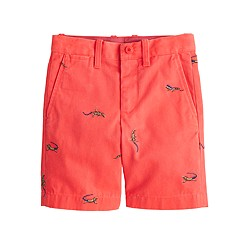 Boys' Stanton short with embroidered iguanas