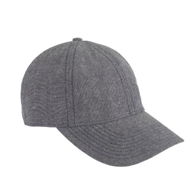 Chambray baseball cap