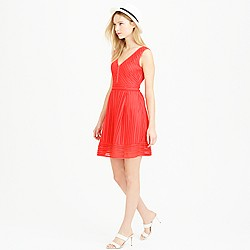 Tall striped eyelet dress