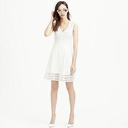 Petite striped eyelet dress