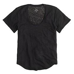 Linen scoopneck T-shirt