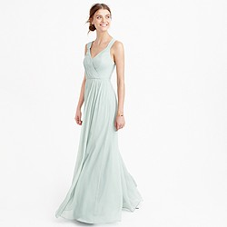 Anabel long dress in silk chiffon