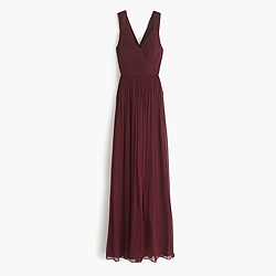 Petite Anabel long dress in silk chiffon