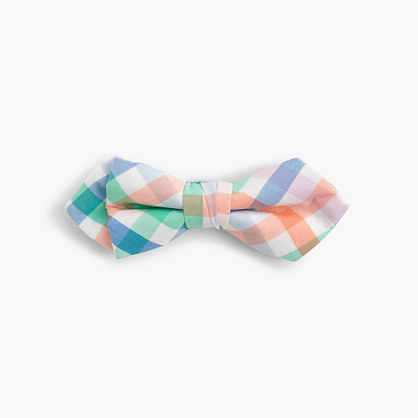 Boys' cotton bow tie in multi gingham