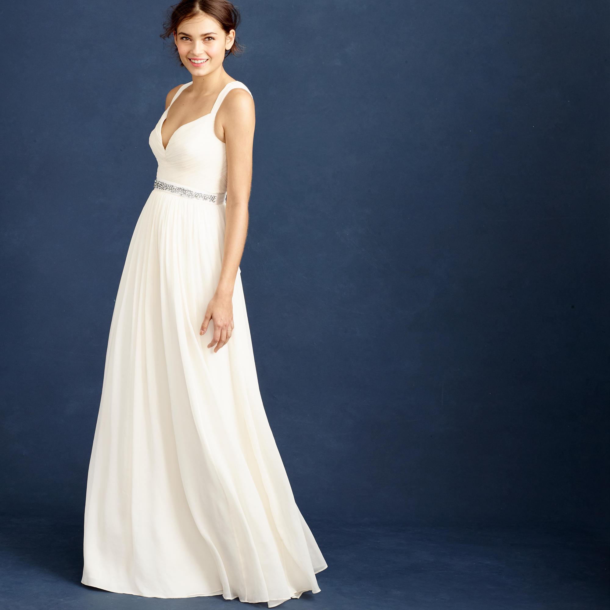 C j crew wedding dress Gigi gown