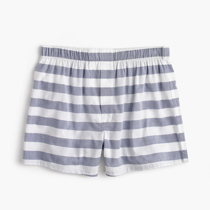Bold navy-striped boxers