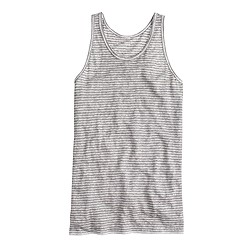 Striped linen tank top