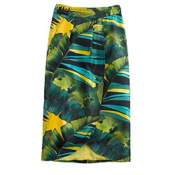 Collection tulip faux-wrap skirt in jungle