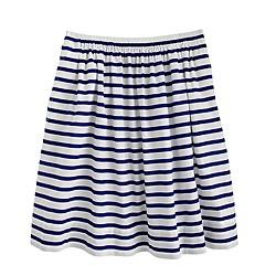 Pull-on skirt in nautical stripe