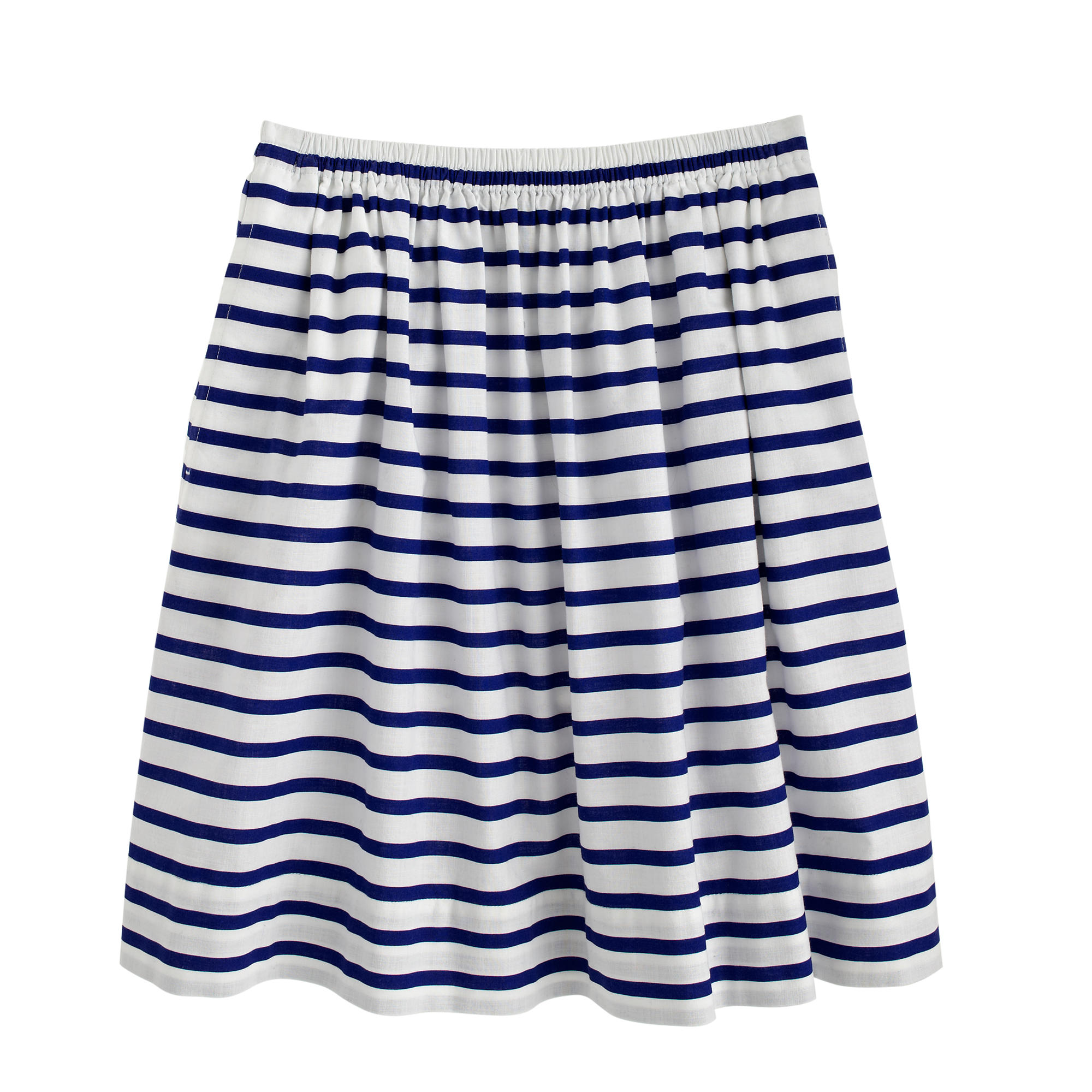 Pull-on skirt in nautical stripe : | J.Crew