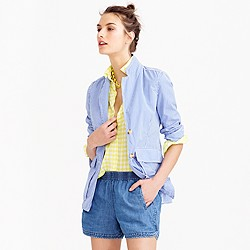 Drapey chambray pull-on short