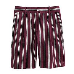 Collection Italian linen short in stripe