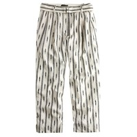 Cropped D-ring pant in ikat