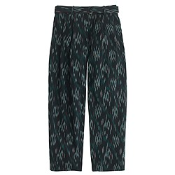 Cropped wide-leg trouser in ikat