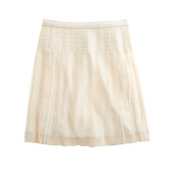 Stitched-down pleated mini skirt