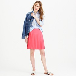 Tall stitched-down pleated mini skirt