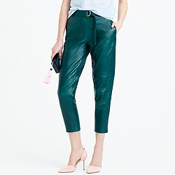Collection leather pant with D-ring belt