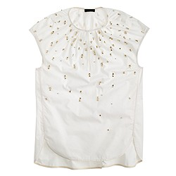 Collection embellished cocoon top