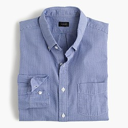 Slim seersucker shirt in microgingham