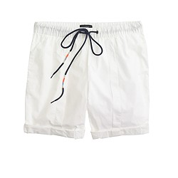 Cotton poplin drawstring short