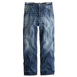 Point Sur Teddy buckle-back cropped jean in falcone wash
