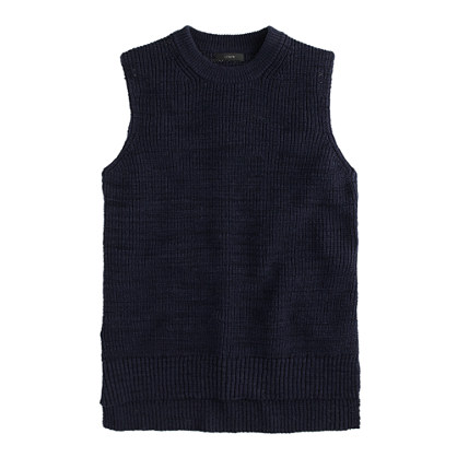 Sleeveless sweater shell