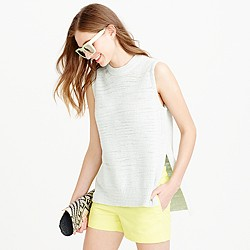 Sleeveless sweater shell
