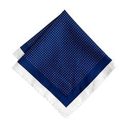 Cotton pocket square in mini dot