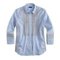 Collection metallic embroidered blouse