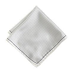 Silk pocket square in mini dot
