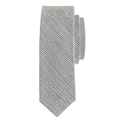Wool-linen tie in microstripe