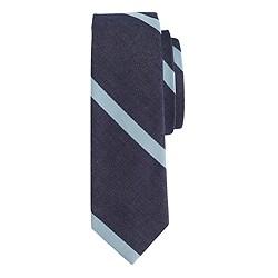 Cotton tie in repp stripe