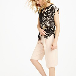 Collection inky floral linen shell