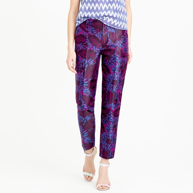 Garden pant in midnight floral jacquard