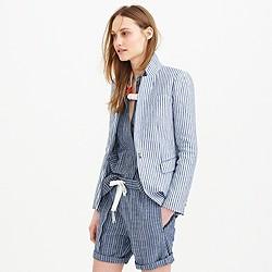 Regent blazer in striped linen