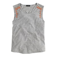 Mixed stone muscle tank top