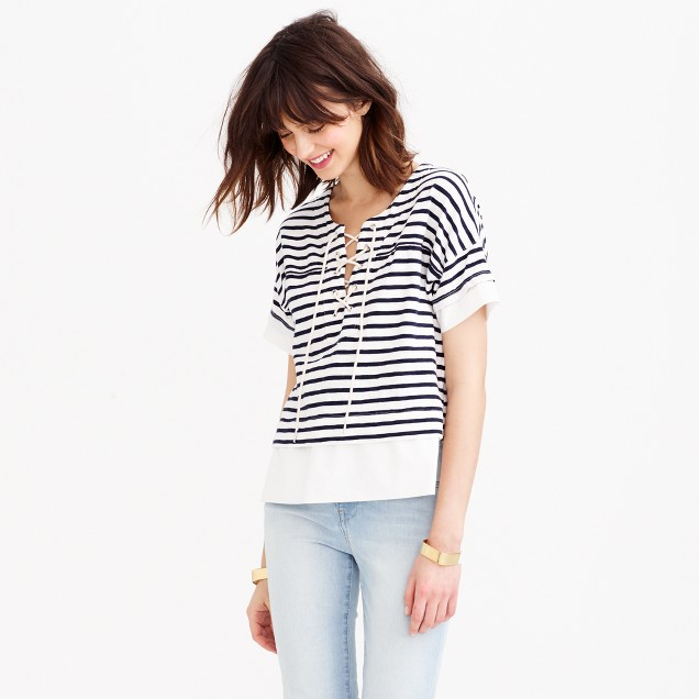 Swingy lace-up sailor T-shirt
