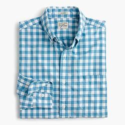 Secret Wash shirt in blue gingham