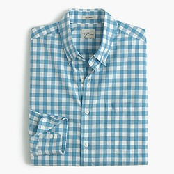 Secret Wash shirt in blue gingham