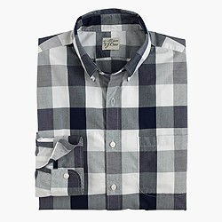 Secret Wash end-on-end cotton shirt in oversized gingham